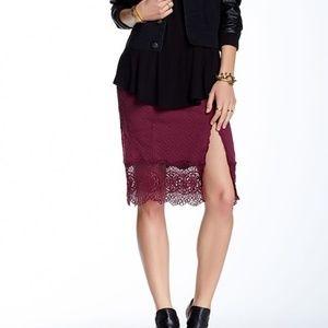 Free People Storyteller Slit Skirt in Shiraz M